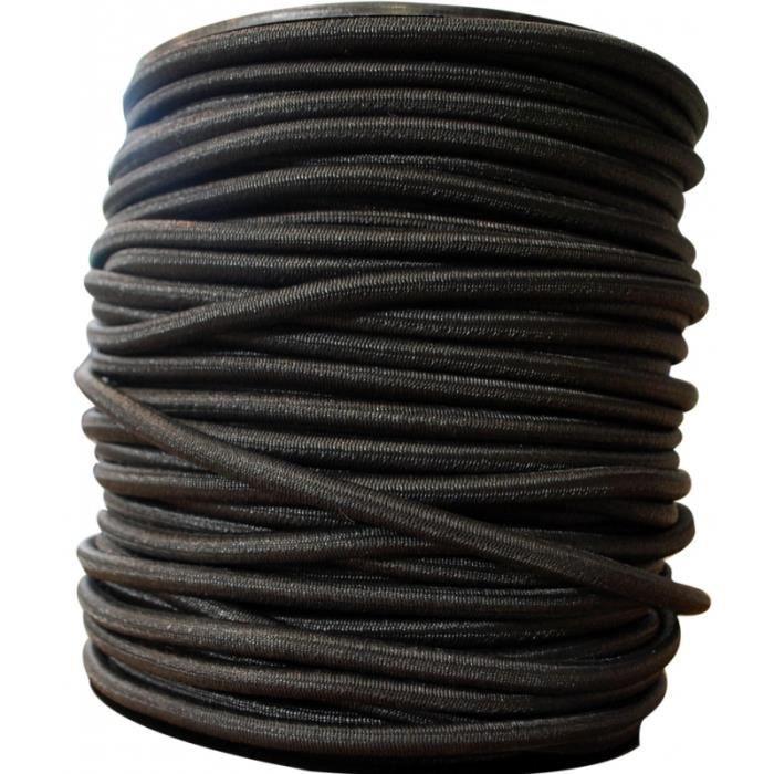 Sandow noir - 6mm - Au mètre linéaire