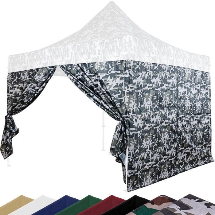 INSTENT PRO Panneau latéral avec fermeture à glissière, couleur urban, pour tonnelle 3x3m