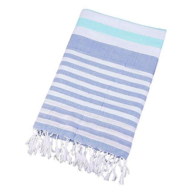 EX6996 Serviette de plage à rayures en coton turc serviette de plage à rayures épaisses serviette en lin de coton 180X90