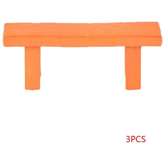 Décor et construction pour modélisme ferroviaire PRENKIN 3PCS Table Chaise Résine Artisanat Micro Paysage Ornement Jardi 190082