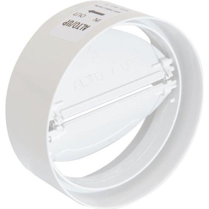 CVL100B, raccord de ventilation en ABS avec clapet anti-retour, diamètre 100 mm