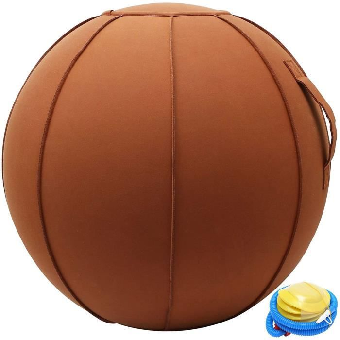 GYM BALL FBJ Ballon De Yoga SiegravegeSiegravege Ergonomique pour Le Bureau Et La Maison Oslash 65Cm Tissu DAmeublement De Quali206