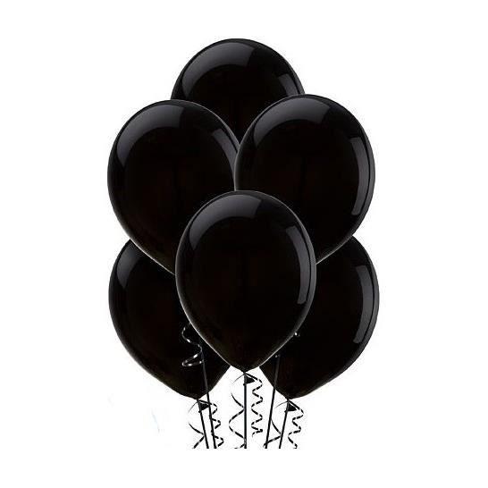 Ballons noirs (x20) horreur