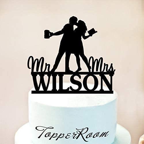 CAKE Glass Wedding Cake Topper Reading Cake Topper Book Cake Topper Wedding Cake Toppers Beer Cake Topper Beer And Book Cake T866