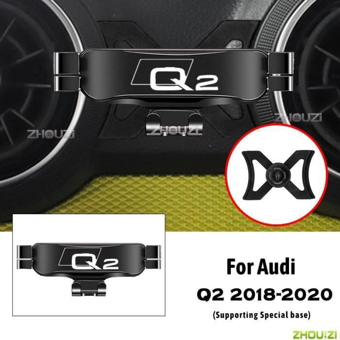 Accessoires Voiture,Support de téléphone portable de voiture, supports de ventilation spéciaux, support de - Type For Audi Q2 Black