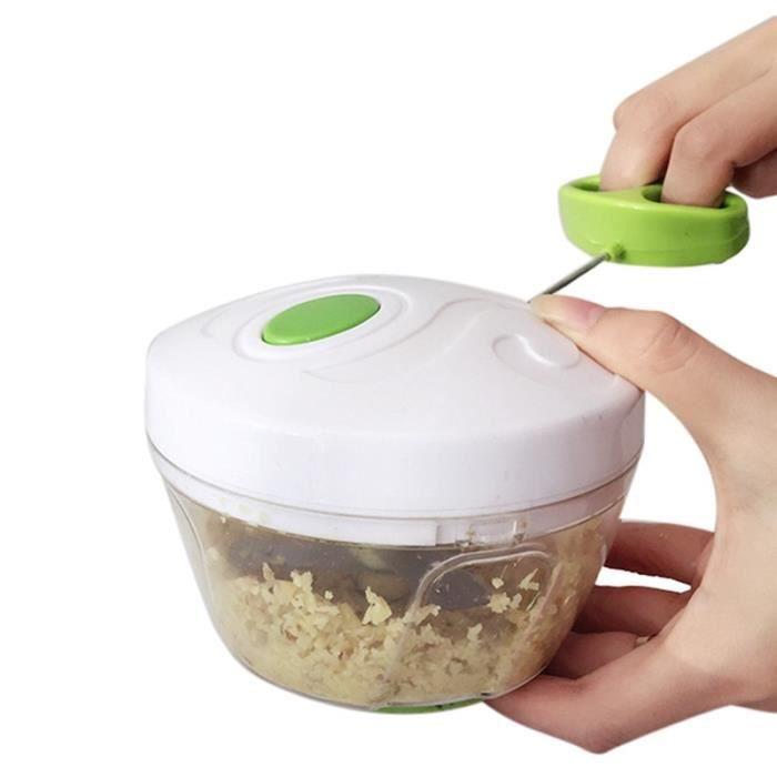 Hachoir manuel,Hachoir manuel corde processeur d'aliments Hachoir à main broyeur à salade, boîte style trancheur d'oignon d'ail