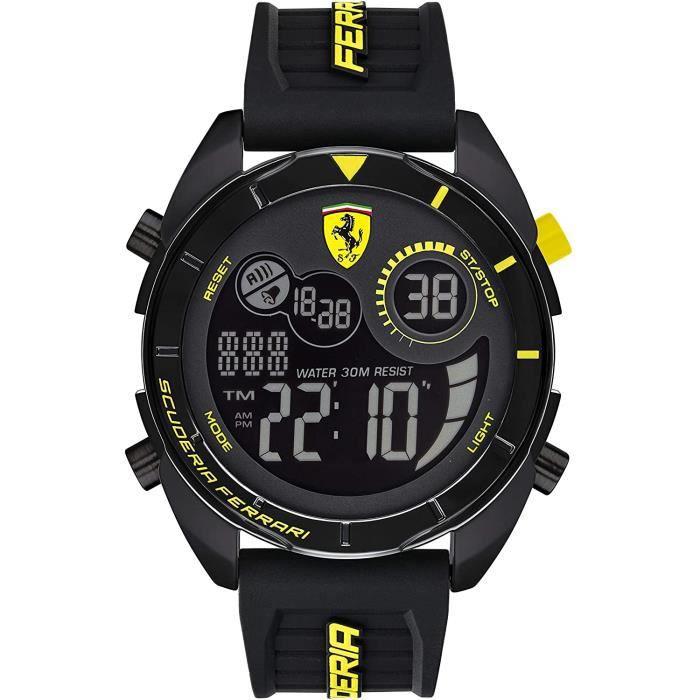 Ferrari-Montre Digital pour Hommes à movement Quartz en Silicone - 0830744