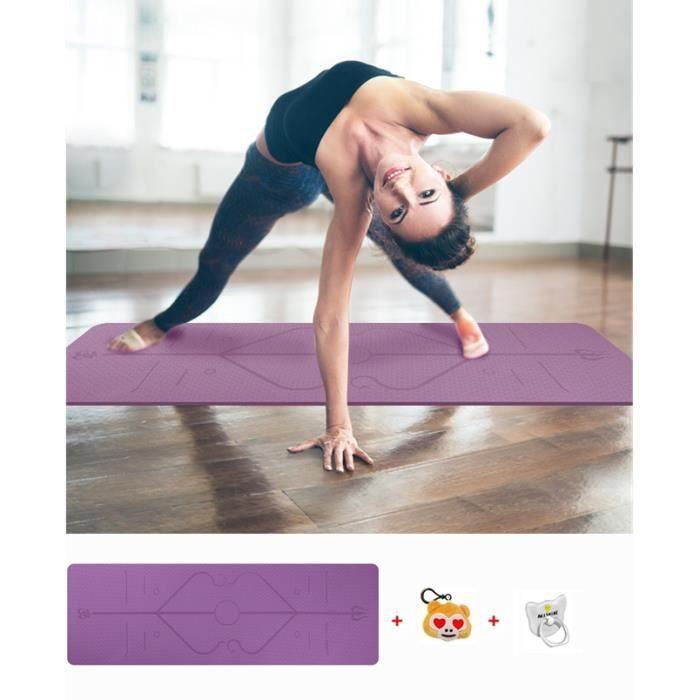 Grand Tapis de Yoga Premium épais et Confortable, pour Pilates/Fitness/Sport/Gym/Ecologique et recyclables