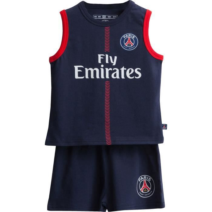 Ensemble Débardeur + short bébé PSG - Collection officielle PARIS SAINT GERMAIN