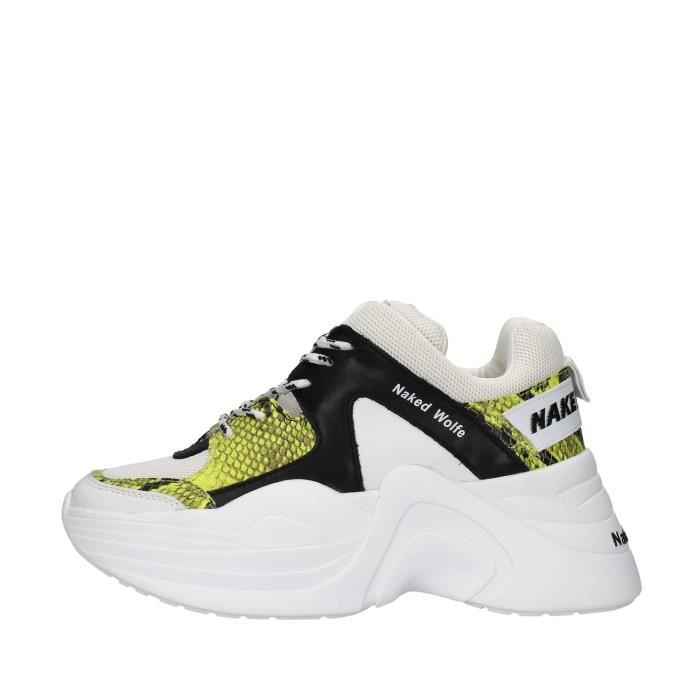 Naked Wolfe NWSTRACK chaussures de tennis Avec coin Femme BLANC