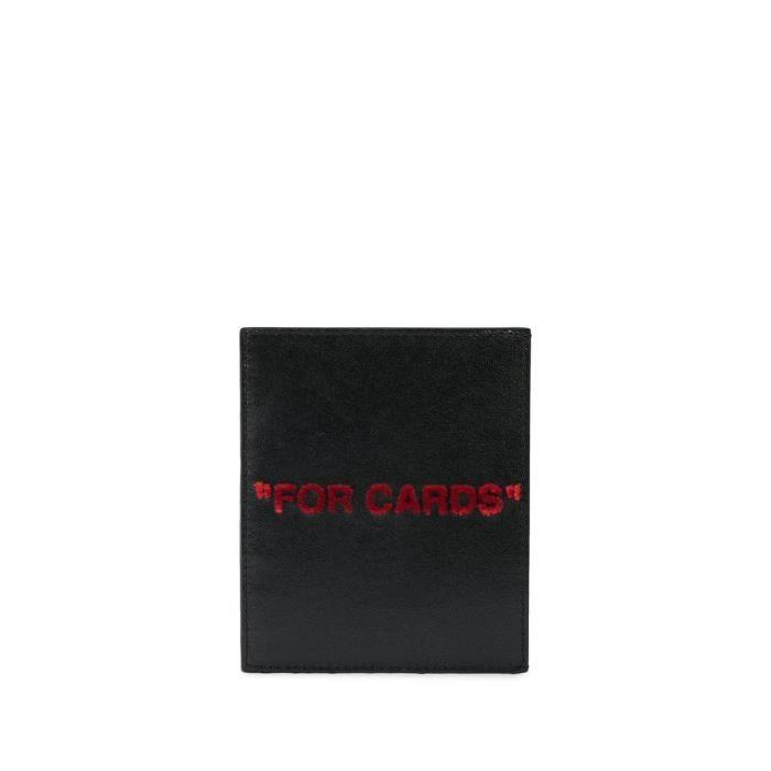OFF-WHITE HOMME OMND005S208530371020 NOIR CUIR PORTE-CARTES