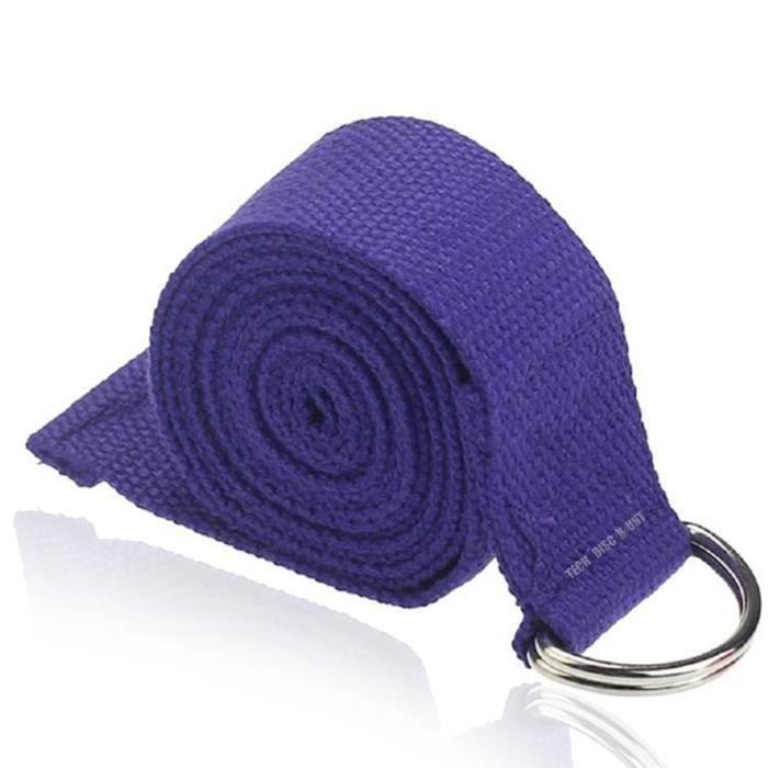 TD® Accessoires de Yoga Taille Reglable de Fitness de Jambe , Sangle d'entrainement de stretch de la longueur de 180 CM avec anneau-