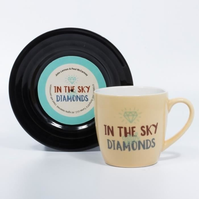 LYRICAL MUG L&M Pack Mug et Soucoupe - Diamonds