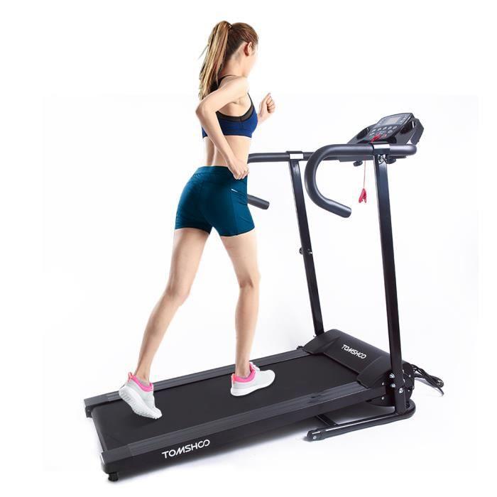 TOMSHOO 500W motorisé Tapis roulant électrique pliant Courir Jogging machine Home Gym Fitness machine