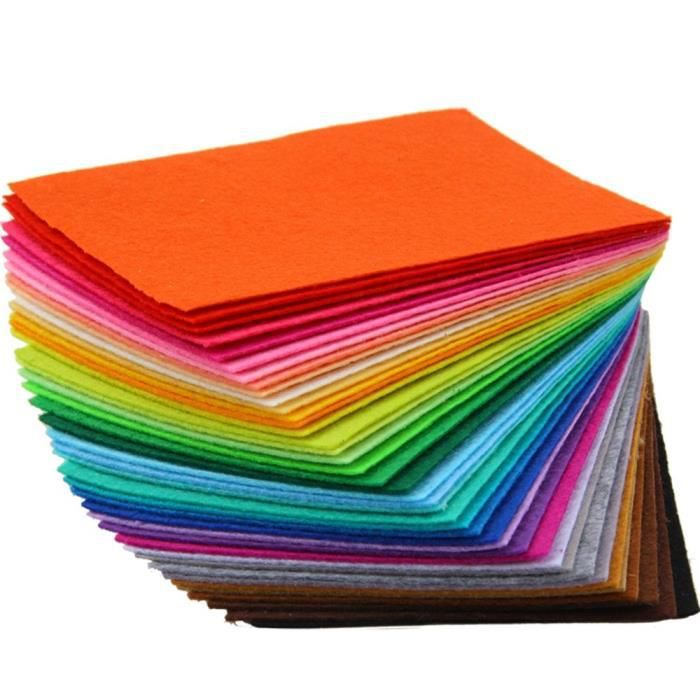 Trixes, lot de 40 feuilles de feutre multicolores pour des travaux d'art et d'artisanat