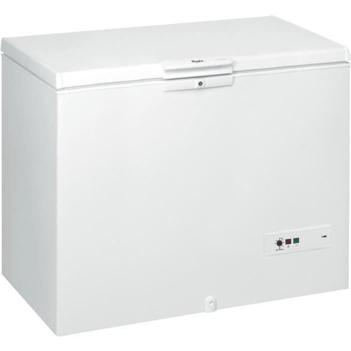 WHIRLPOOL WHM46111 - Congélateur coffre - 432L - Froid statique - L 140,5 x H 91.6 cm - Blanc