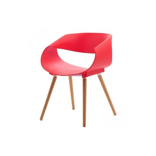 Chaise design orbit rouge achat vente chaise rouge cdiscount - Cdiscount chaise design ...