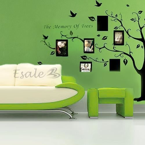 Sticker mural auto collant en arbre cadre de photo deco for Auto collant mural