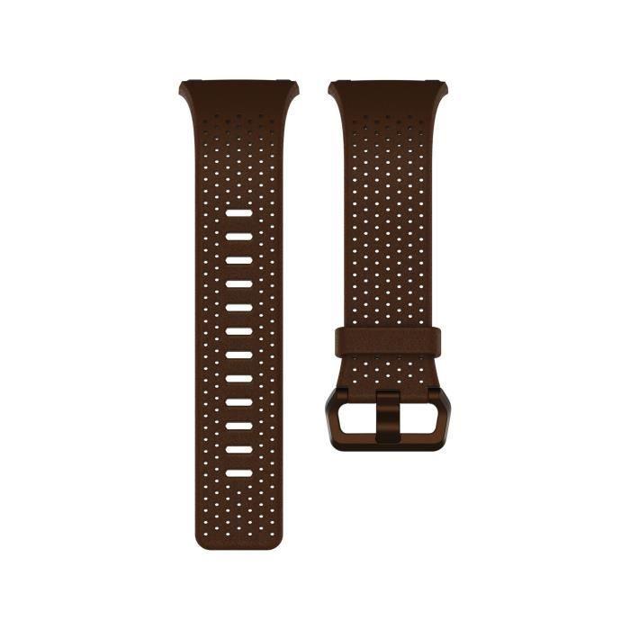 BRACELET MONTRE CONNEC. FITBIT Bracelet Collection Cuir Perforé pour IONIC
