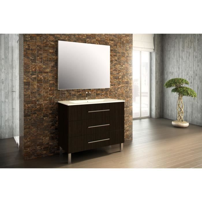 madrid meuble de salle de bain weng 100 cm achat vente salle de bain complete madrid meuble. Black Bedroom Furniture Sets. Home Design Ideas