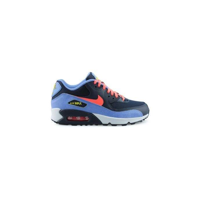 BASKET Nike Air Max 90 Mesh Junior Bleu 725855-408