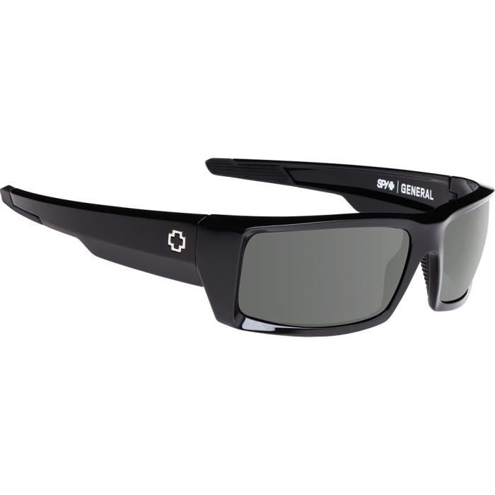 9519468b4e4991 Lunettes de soleil Spy General Noir Brillant Happy Grey Green 60 ...
