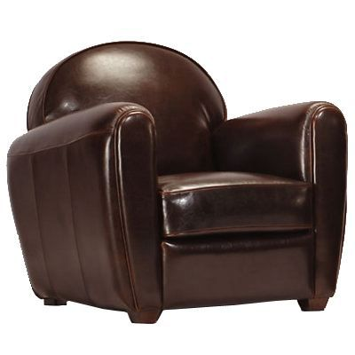 fauteuil club en cuir chocolat achat vente fauteuil. Black Bedroom Furniture Sets. Home Design Ideas