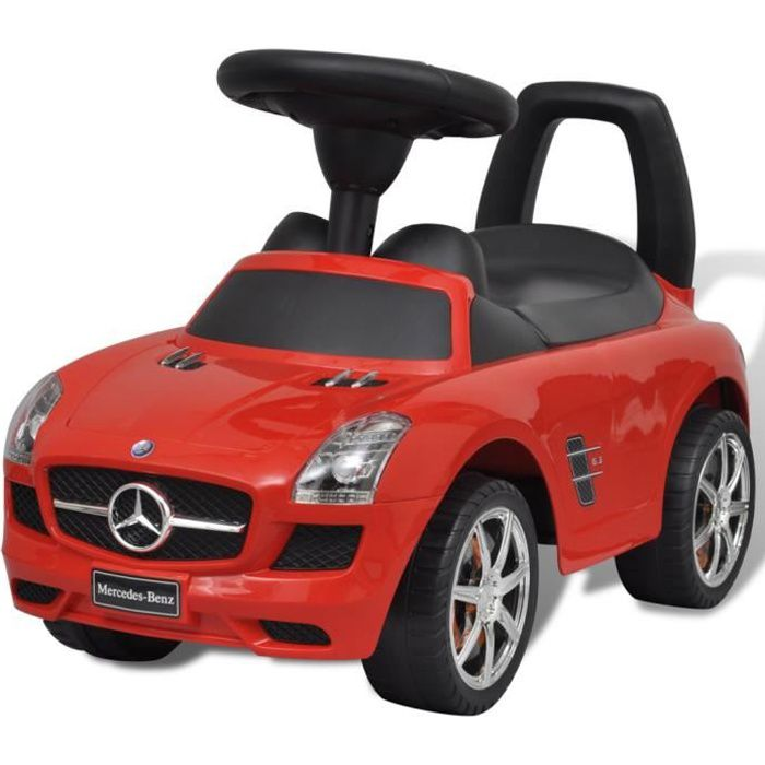 mercedes benz pousse pied voiture enfant rouge achat. Black Bedroom Furniture Sets. Home Design Ideas
