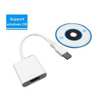 CARTE GRAPHIQUE INTERNE Jeffrey®USB 3.0 à VGA Multi-Display Adaptateur Con