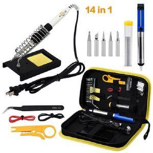 FER - POSTE A SOUDER 14 en 1 Fer à Souder Kit Electrique 60W Kit pour D