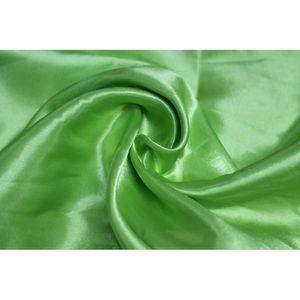 TISSU Tissu Satin Polyester Anis -Au Mètre