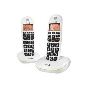 Téléphone fixe DORO Téléphone sans fil PhoneEasy Duo DECT avec af