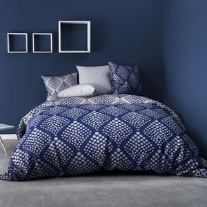 HOUSSE DE COUETTE ET TAIES Housse de couette 220x240 Fibula bleu + 2 taies co