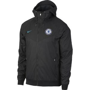 TENUE DE FOOTBALL VESTE COUPE VENT NEWS CHELSEA NOIR ADULTE 2018