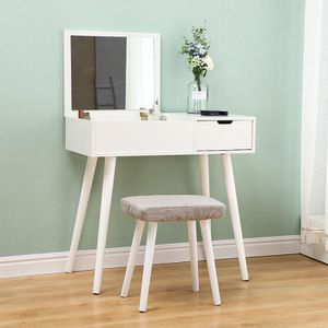 COIFFEUSE OOBEST® Coiffeuse Blanc 80 x 40 x 75 cm - Table de