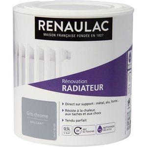 PEINTURE - VERNIS RENAULAC Peinture Rénovation Radiateur Gris Chrome
