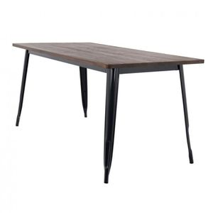 TABLE À MANGER SEULE Table LIX en Bois (160x80) Noir Bois Foncé