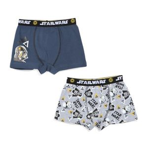 BOXER - SHORTY STAR WARS Lot de 2 Boxers Uni et Imprimé Enfant Ga