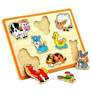PUZZLE Viga - Puzzle thème animaux de la ferme - pièces a