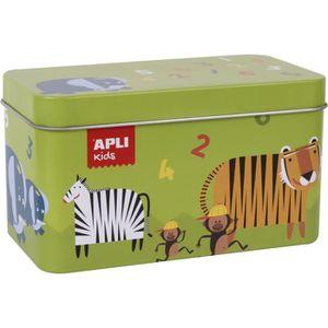 DOMINOS APLI Jeu domino animaux - 36 pièces - En boîte mét