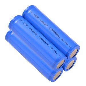PILES 4pcs 18650 batterie rechargeable Li ion 1500mAh 3.