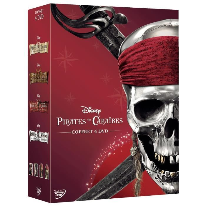 dvd coffret pirates des cara bes l 39 int grale 4 films. Black Bedroom Furniture Sets. Home Design Ideas
