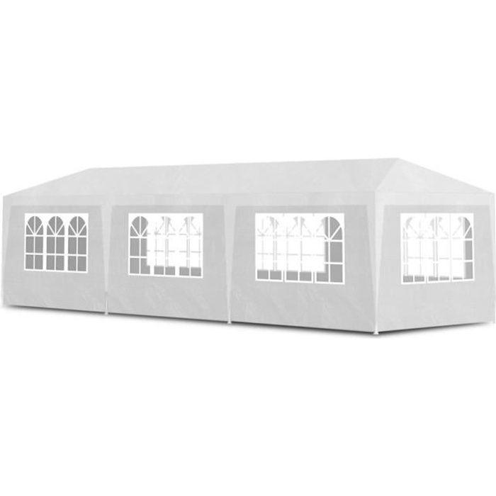Magnifique Tonnelle de jardin/Tente de reception Chapiteau Blanc 3x9m