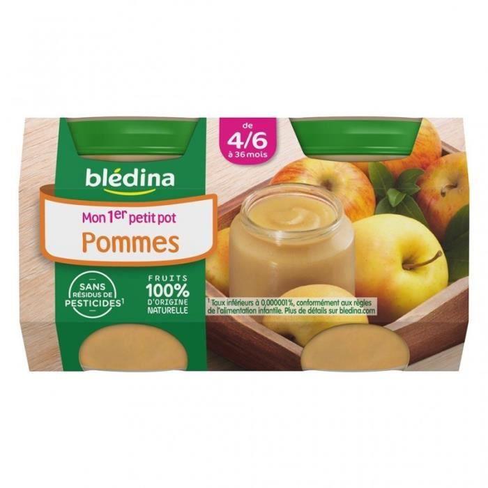 Blédina Mon 1er Petit Pot Pommes (de 4/6 à 36 mois) par 2 de 130g (lot de 10 soit 20 pots)
