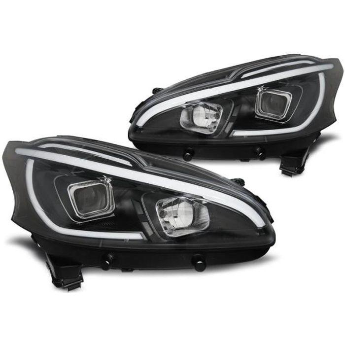 Paire de feux phares Peugeot 206 12-15 led LTI noir