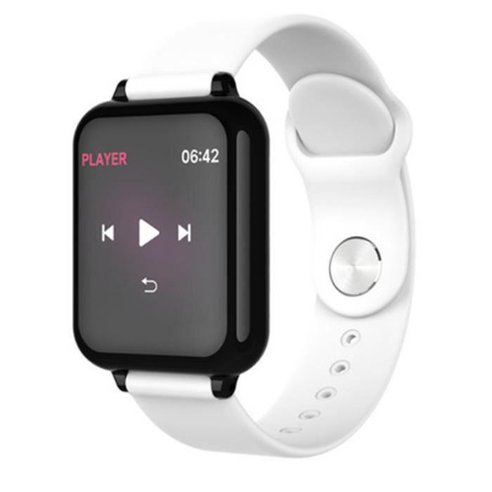 Bracelet intelligent, tension artérielle, podomètre de fréquence cardiaque, rappel d'exercice, bracelet étanche Bluetooth