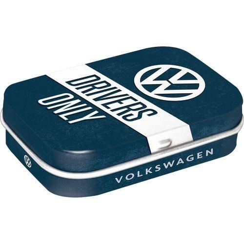 Boîte à pilules logo VW Volkswagen 'Drivers only'