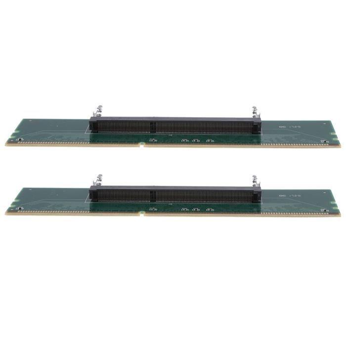 2pack Carte d'Adaptateur de Mémoire Ram Externe DD3 Connecteur Adaptateur Testeur pour PC MagiDeal