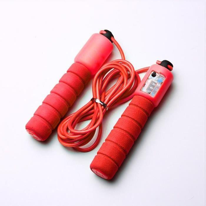 Accessoires Fitness - Musculation,Cordes à sauter avec compteur sport Fitness réglable vitesse rapide comptage saut - Type Rouge #A