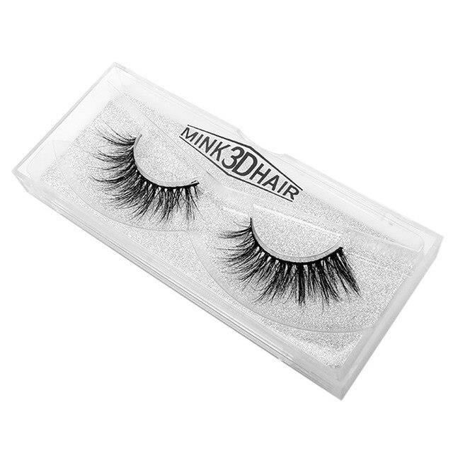 G1569 Nouveau 1 paire vison cheveux naturel épais maquillage cils faux cils mode cosmétique noir livraison directe 70925*as show